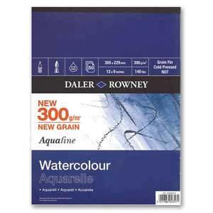 Daler-Rowney Aquafine Watercolour Pad 300gsm--Aquafine 水彩畫簿