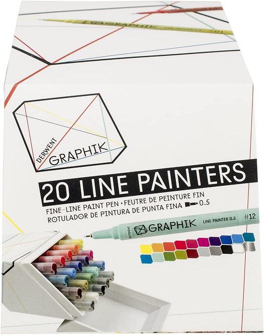 Derwent Graphik Linepainter 20 colors set  DW 20色顏色繪圖筆套裝