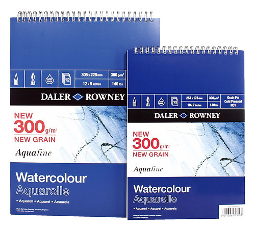 Daler-Rowney Aquafine Watercolour Spiral Book 300gsm--Aquafine水彩畫簿(線圈)