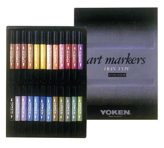 Yoken Art Marker 24 color set    日本顏色麥克筆24色套裝