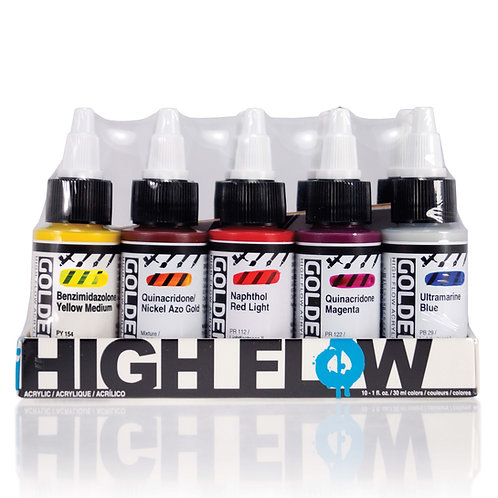 Golden High Flow Assorted Col. Set   10col.x30ml