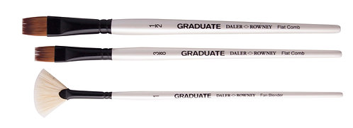 Graduate 3 Brush Synthetic& Bristle Set  Graduate 多用途畫筆3支套裝
