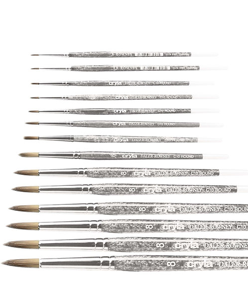 Daler Rowney Cryla Short Handle Brush-Round  威美塑膠彩短圓頭畫筆