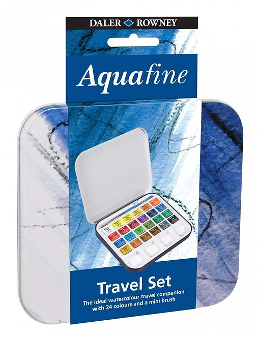 Rowney Aquafine Travel Set -威美迷你多色旅行套裝水彩顏色