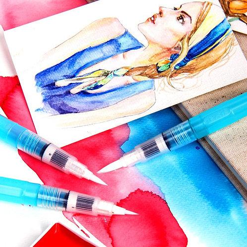 ZIG Watercolour Brush20              日本吳竹牌水彩儲水畫筆及套裝