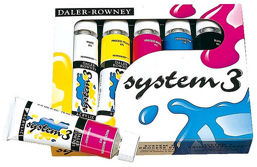 Rowney System 3 Acrylic Selection Set 8x59ml-威美套裝系列3丙稀彩 8x59ml./set