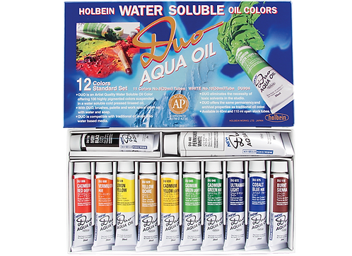 Holbein Duo Aqua Oil Colour set 12col x 20ml 好品套裝水溶性油彩套裝