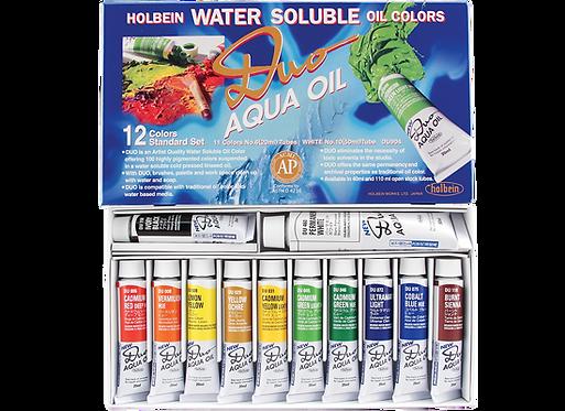Holbein Duo Aqua Oil Colour set 12col x 20ml 好品套裝水溶性油彩套裝