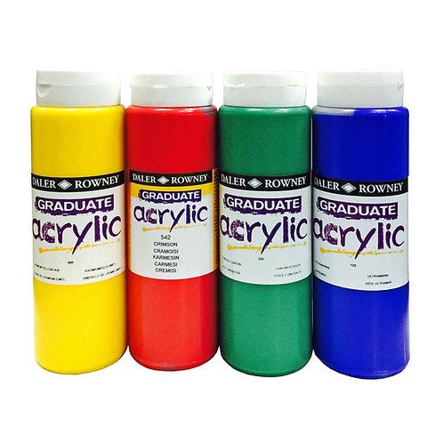Rowney Graduate Acrylic Colour-500ml  Graduate 系列丙稀彩