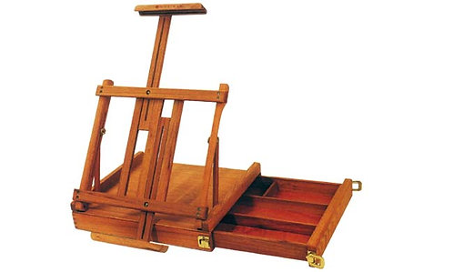 Wooden Table Easel Box        座枱畫架連畫箱