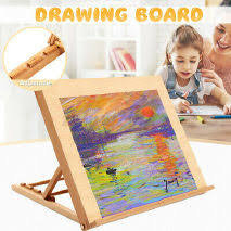 Wooden Table Easel with Drawing Board       座枱畫架連背板