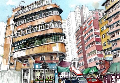 A beautiful old building at Sai Wan Ho