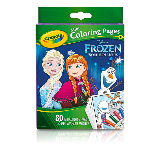 Mini Coloring Pages with Markers-Disney Frozen 千色樂兒童千色樂迷你填色簿+筆套裝