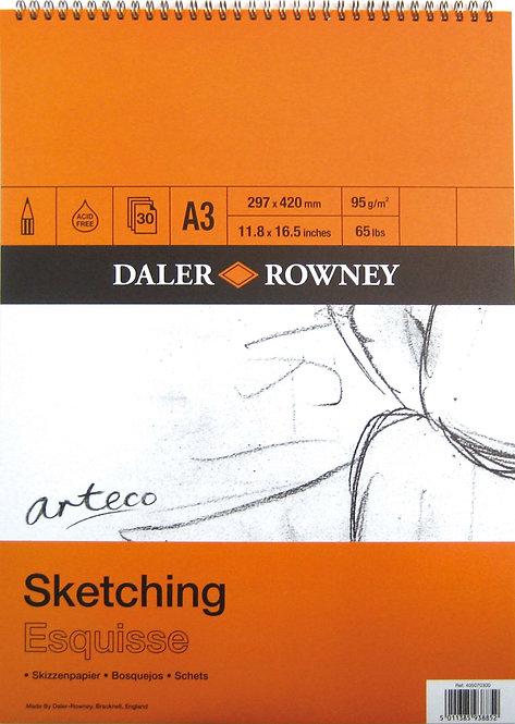 Daler-Rowney Arteco Spiral Pad 95gsm x 30sht      線圈畫簿