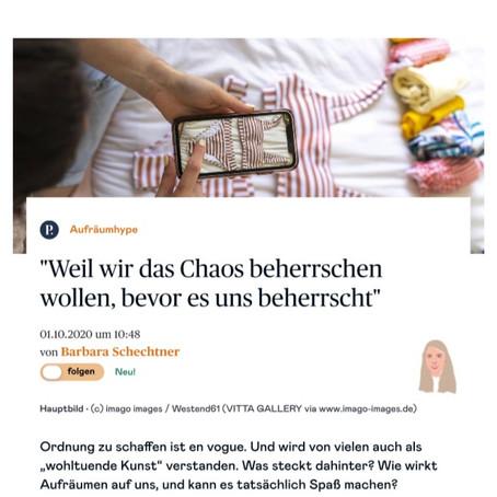 """Weil wir das Chaos beherrschen wollen, bevor es uns beherrscht - Artikel bei """"Die Presse Online"""""""