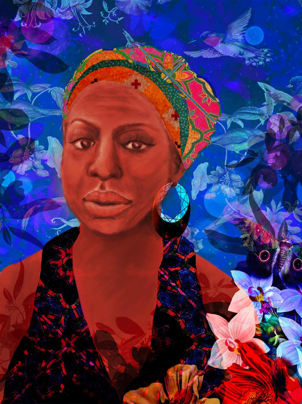 Nina Simone Portrait Installation