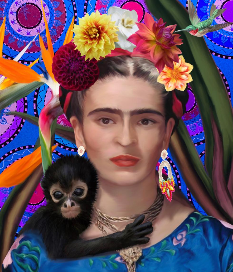 Frida Kohlo Portrait - Private Collection