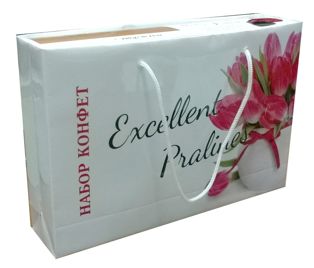 Пакет - упаковка для коробки конфет