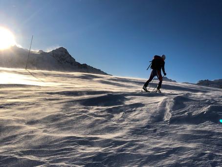 Matteo Berta e i suoi allenamenti invernali