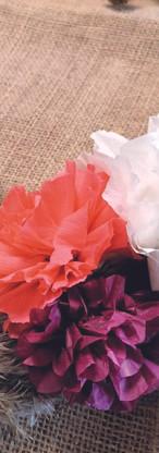 Cercle fleurs séchées et papier