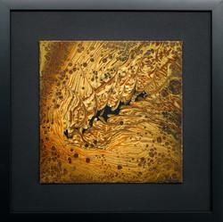 Acrylique sur toile vernie et encadrement