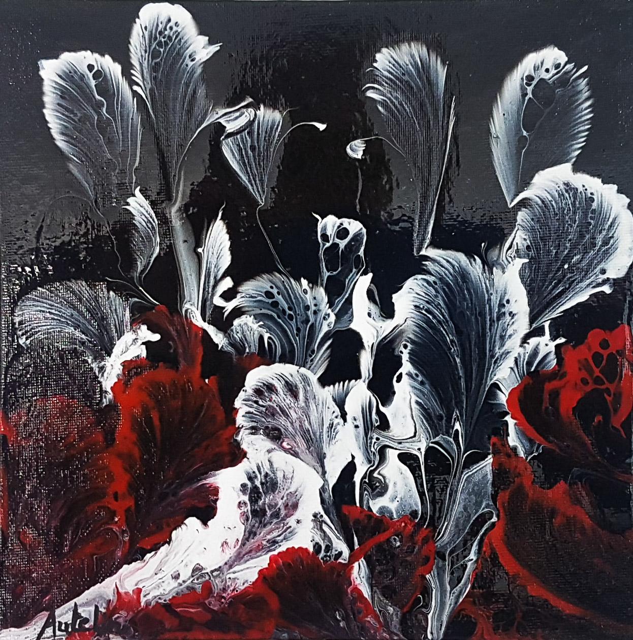 Peinture sur toile acrylique 19X19 vernis