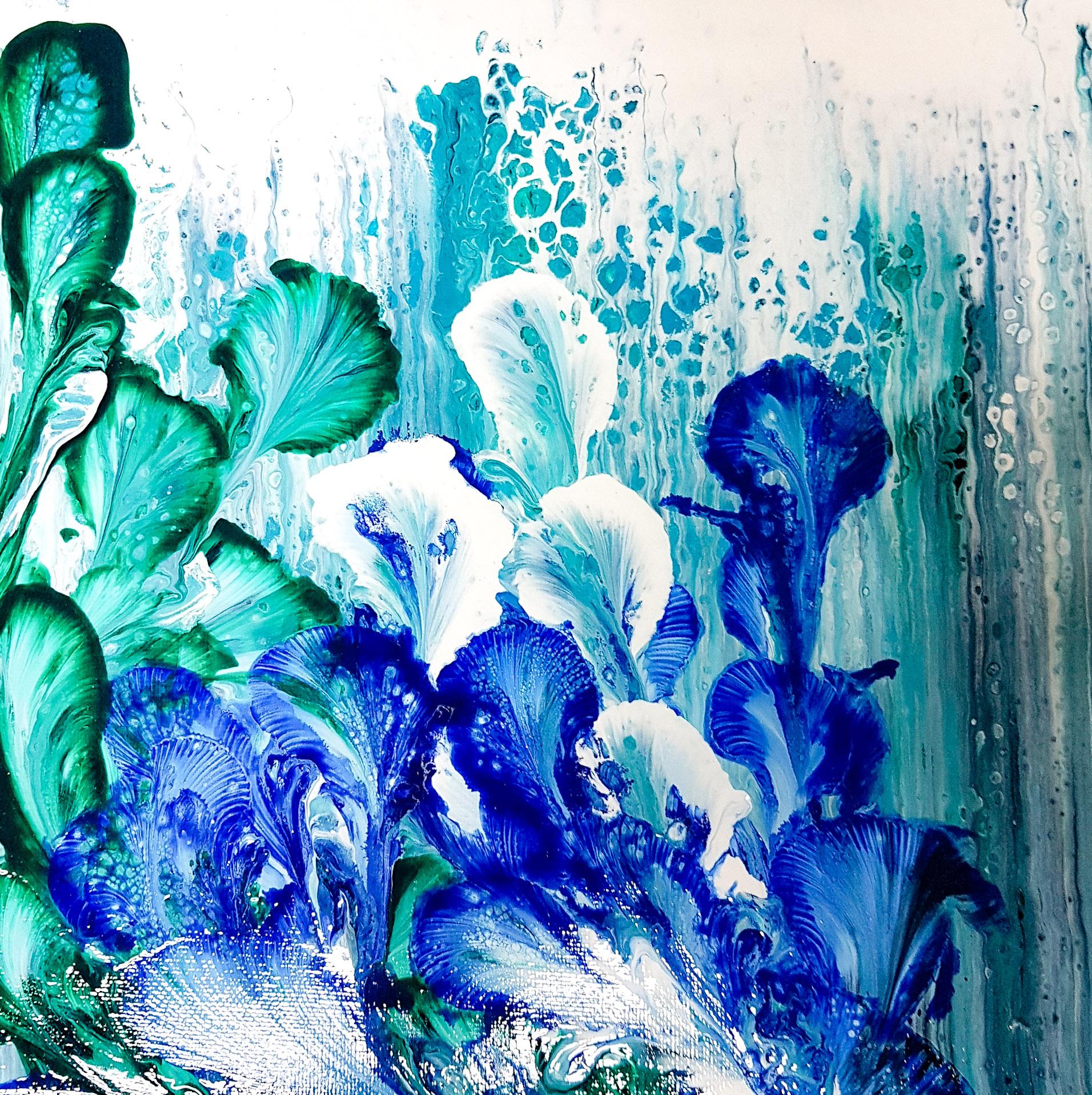 Peinture sur toile acrylique vernis 25X25