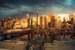 Crépuscule sur Darling Harbour