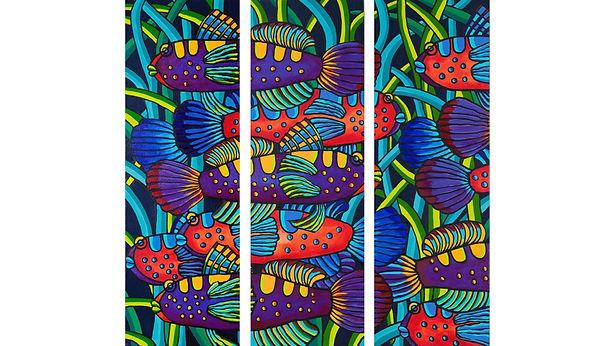 Shoal by Ashley Hay. Acrylic on Canvas