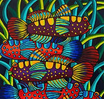 Fish Circus by Ashley Hay. Acrylic on Ca