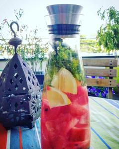 eau aromatisée pastèque citron menthe