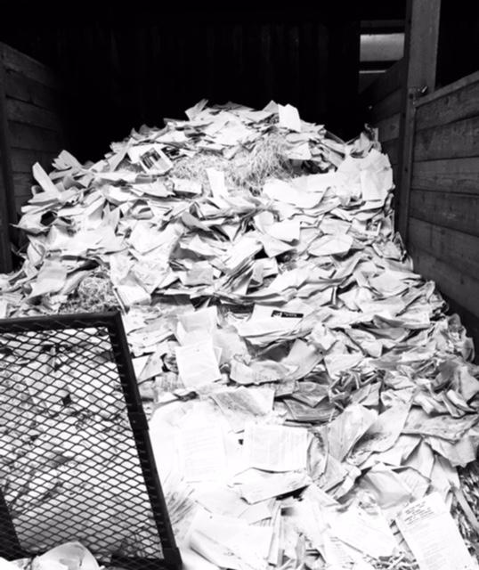montagne de papier
