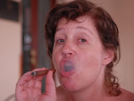 She Inhaled