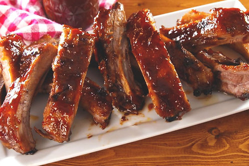 BBQ Pork Ribs with Chips