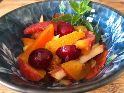 Salade de fruits maison. 7€.