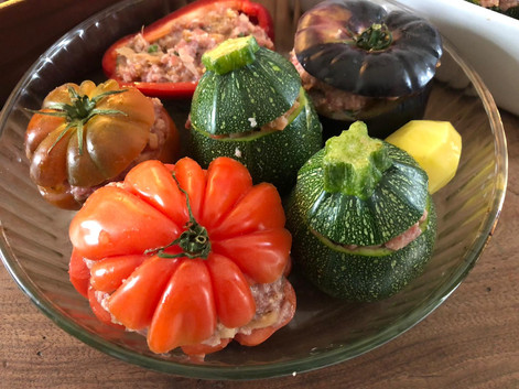 Légumes farçis. 16€.