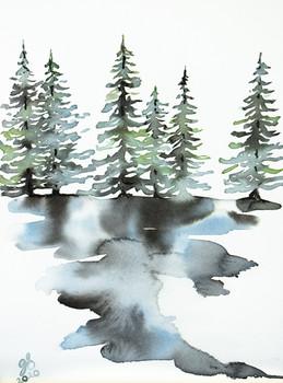 Through Trees II