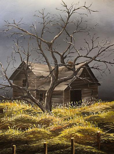 Abandoned house, farm, farmhouse, country, countryside