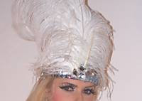 WHITE Deluxe Flapper Headpiece