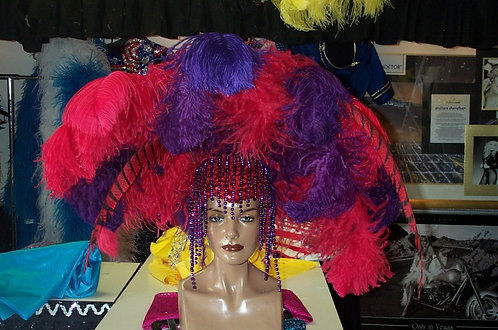 RED HAT SHOWGIRL HEADPIECE