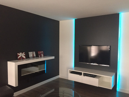 Meuble télé & tablette foyer