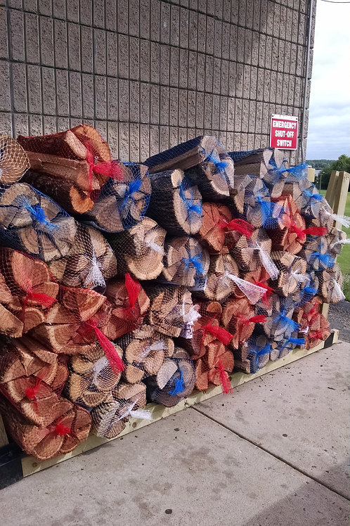 Bagged Firewood - Red, White & Blue