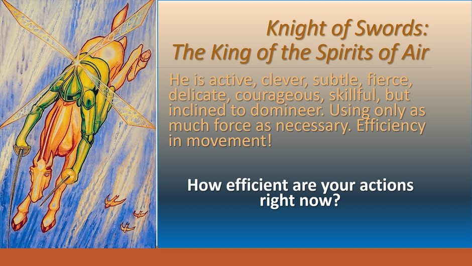 4.15.2020 Today's Tarot is the Knight of Swords