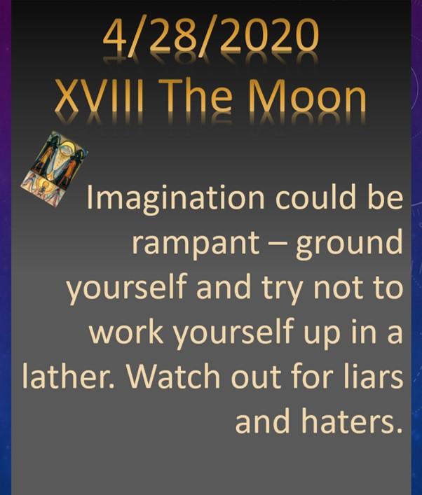4.28.2020 XVIII The Moon