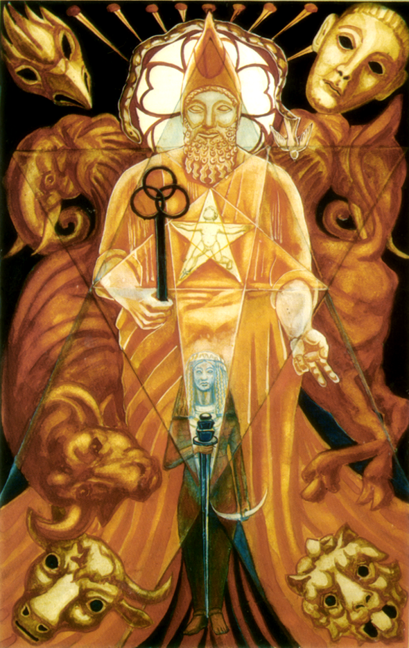#TodaysTarot Art then Hierophant