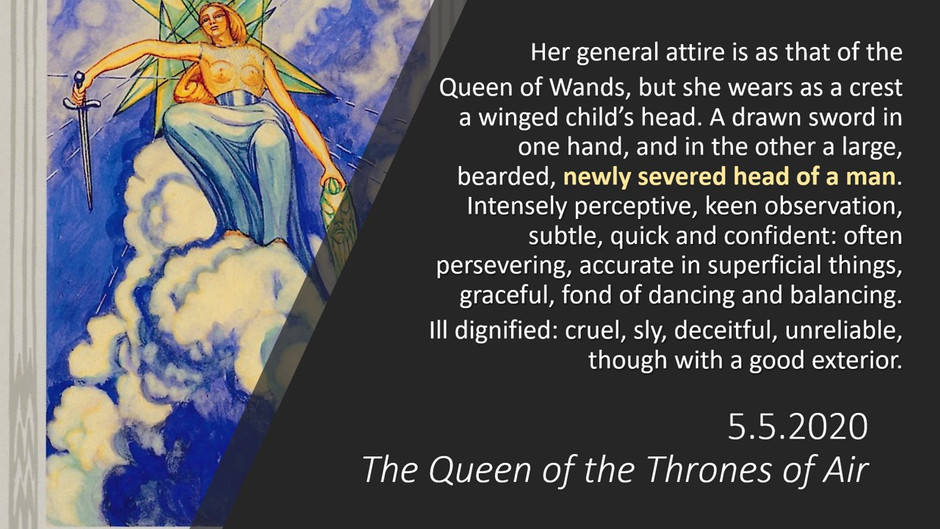 5.5.2020 Queen of Swords