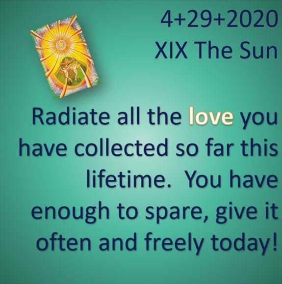 4.29.2020 The SUN!