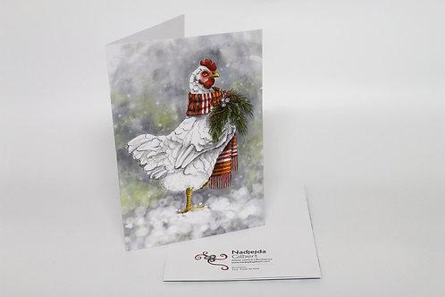Carte de voeux | Poule de Noël