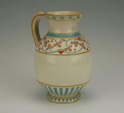 Victorian Pottery Jug with Lozenge Mark - Minton