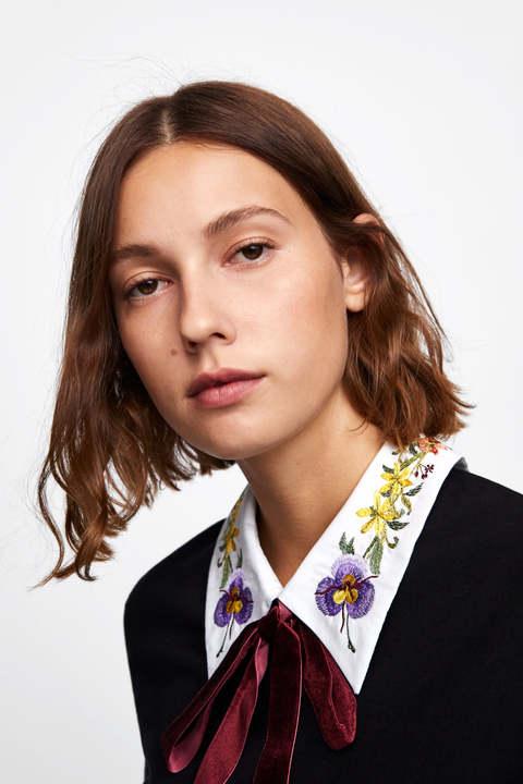 Zara Woman Embroidery Collar